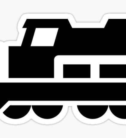 Heavy Diesel Train Locomotive Icon Sticker
