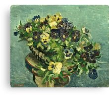 Vincent Van Gogh - Basket Of Pansies  Canvas Print