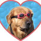 Doggo Stickers: Swimmer Dog by Elise Vermeer