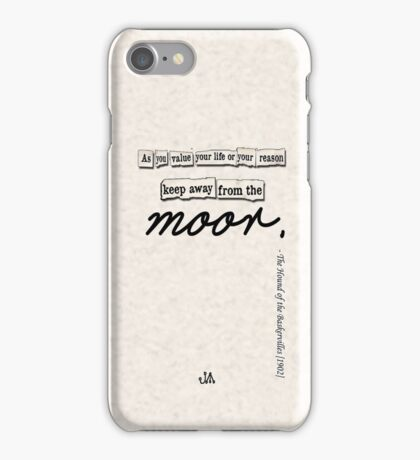 Letter to Sir Henry. - The Hound of the Baskervilles iPhone Case/Skin