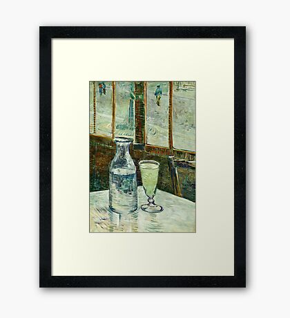 Vincent Van Gogh - Cafe Table With Absinth  Framed Print