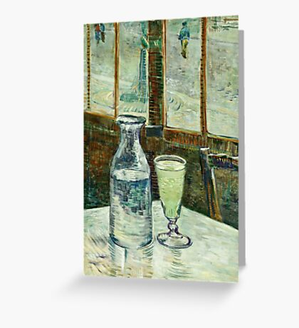 Vincent Van Gogh - Cafe Table With Absinth  Greeting Card