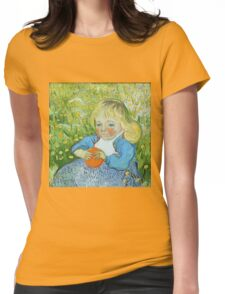 Vincent Van Gogh - Child With An Orange, 1890 Womens Fitted T-Shirt