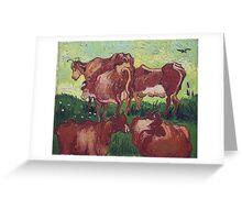 Vincent Van Gogh - Cows (After Jorsaens), 1890 Greeting Card