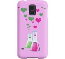 Chemistry Flask, Lab Glassware, Heart - Pink Green Samsung Galaxy Case/Skin