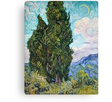 Vincent Van Gogh - Cypresses 1989  Canvas Print