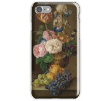 Franz Xaver Petter AUSTRIAN   (STILL LIFE WITH FRUIT AND FLOWERS) iPhone Case/Skin