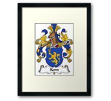 Korn Coat of Arms (German) Framed Print