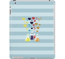 Chemistry Flask, Hearts - Red Blue Yellow Purple iPad Case/Skin