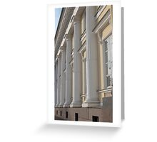 Palace facade with columns Greeting Card