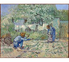 Vincent Van Gogh - First Steps (After Millet), 1890 Photographic Print