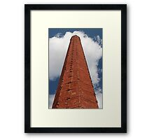industrial chimney of red brick Framed Print