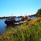 On the mouth of the Clarence River Yamba NSW Australia by Margaret Morgan (Watkins)