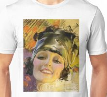 FLAPPER; Vintage Art Deco Beautiful Print Unisex T-Shirt