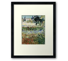 Vincent Van Gogh - Garden In Bloom 1888 Framed Print