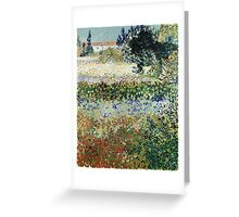Vincent Van Gogh - Garden In Bloom 1888 Greeting Card