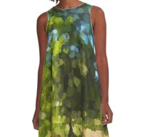 Sunlit Tree in the Wind A-Line Dress
