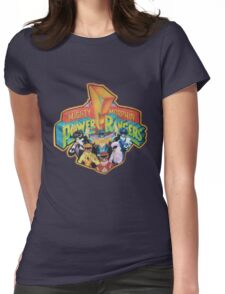 Mighty Morphin' Power Rangers  Womens Fitted T-Shirt