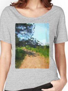 Shaded Path in a Park Women's Relaxed Fit T-Shirt