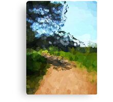 Shaded Path in a Park Canvas Print