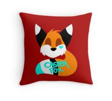 Casper Fox Logo Throw Pillow
