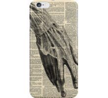 Vintage Dictionary Page Anatomy Wrist Hand Profile iPhone Case/Skin