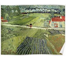 Vincent Van Gogh - Landscape With Carriage And Train 1890 Poster