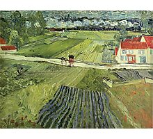 Vincent Van Gogh - Landscape With Carriage And Train 1890 Photographic Print