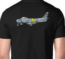 JET, FIGHTER, War Bird, North American, F-86, Sabre, airplane, Fighter, North Korea Unisex T-Shirt