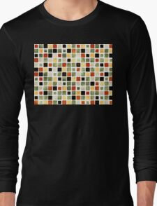 Grunge Pattern Watercolor Tiles Long Sleeve T-Shirt