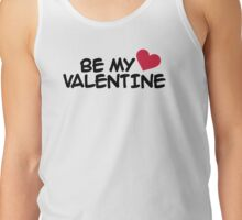 Be my valentine red heart Tank Top