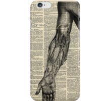 Vintage Dictionary Page Anatomy Arm Profile iPhone Case/Skin
