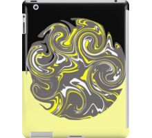 Yellow and grey abstract fusion iPad Case/Skin