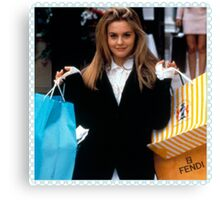 Cher Horowitz/Clueless Shopping Stamp  Canvas Print