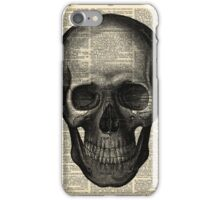 Vintage Dictionary Page Anatomy  Skull Profile iPhone Case/Skin