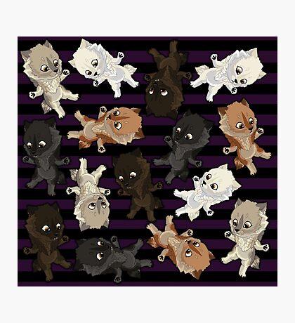 Topsy turvy Werepups - purple Photographic Print