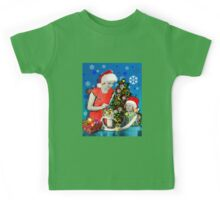 Squeeze Your Christmas (Blue Edition) Kids Tee