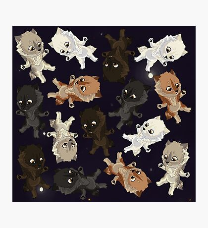 Topsy turvy Werepups in space Photographic Print