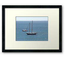 Floaty boats Framed Print