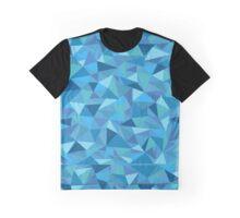 Blue Geometric Graphic T-Shirt