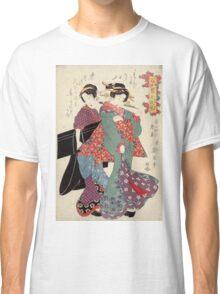 An allegory of Komachi visiting - Eisen Ikeda - 1818 Classic T-Shirt