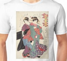 An allegory of Komachi visiting - Eisen Ikeda - 1818 Unisex T-Shirt