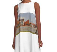 Old town garden wall A-Line Dress