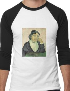 Vincent Van Gogh - Larlesienne, Portrait Of Madame Ginoux, 1890 01 Men's Baseball ¾ T-Shirt