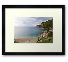 Liapades Beach, Corfu Island, Greece Framed Print