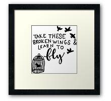 Broken Wings Framed Print