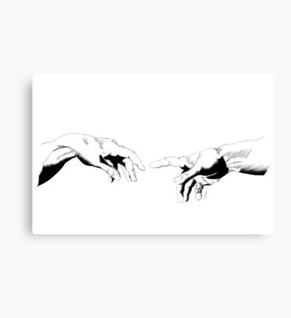 The Creation of Adam #2, BW Canvas Print