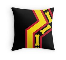 Geared Up Pup Rubber Pup Pride Flag Throw Pillow