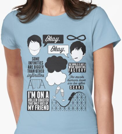 The Fault In Our Stars Collage Womens Fitted T-Shirt