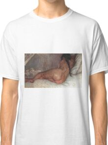 Vincent Van Gogh - Nude Woman Reclining, Seen From  Back, 1887 Classic T-Shirt